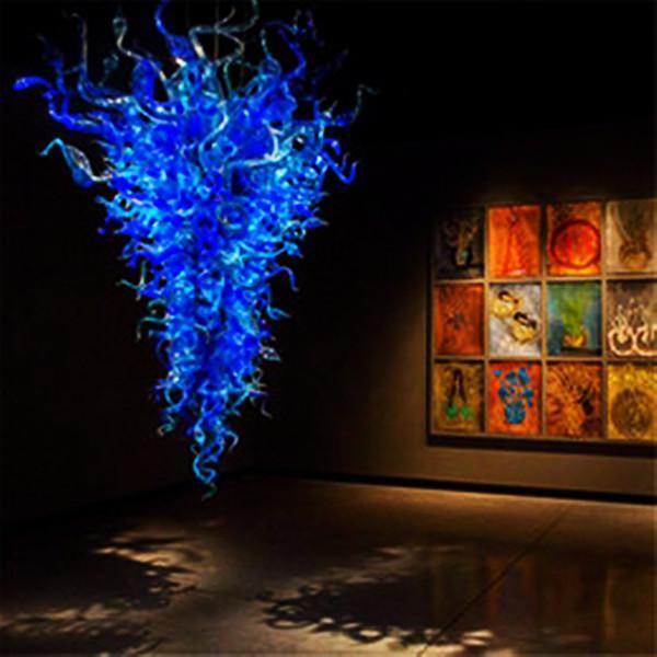 Lámparas ligeras de lámparas de araña de Murano Grandes Nórdicos Moderno Venta al por mayor LED Lámpara de cristal de cristal de cristal de cristal