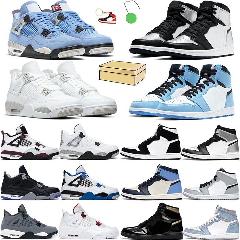 4s Chaussures de basketball Hommes Femmes Jumpman 1S High OG Hyper Royal Cactus Jack White Oreo Université Bleu Black Black Cat Dark Moussel Mensoon Mens Sneakers