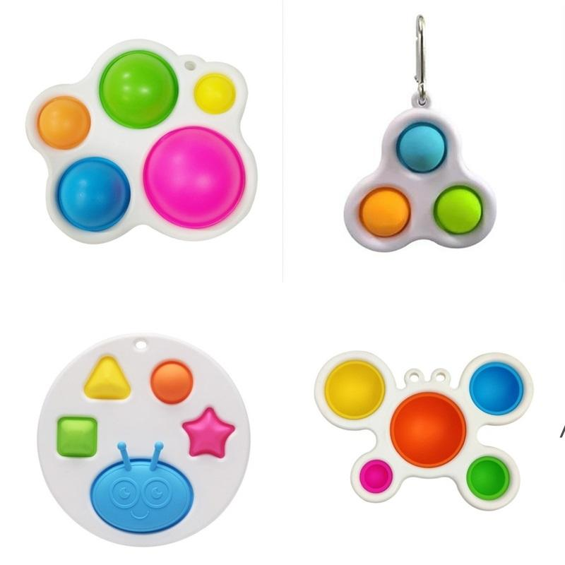 Baby Sensory Simple Dimple Toys Decoration Gifts Adult Child Funny Anti-stress Stress Reliver Push Bubble Fidget NHB6184