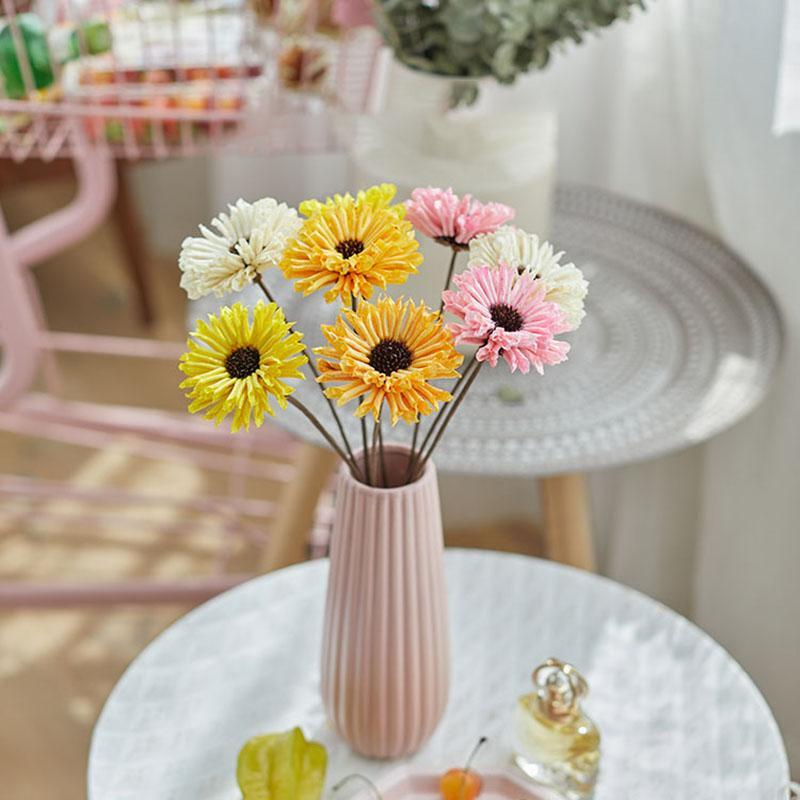 Decorative Flowers & Wreaths Dried Flower Bunch Real Plant Handmade-Dry Artificial Daisy Party Decoration Home Decor Wedding Table Centerpie