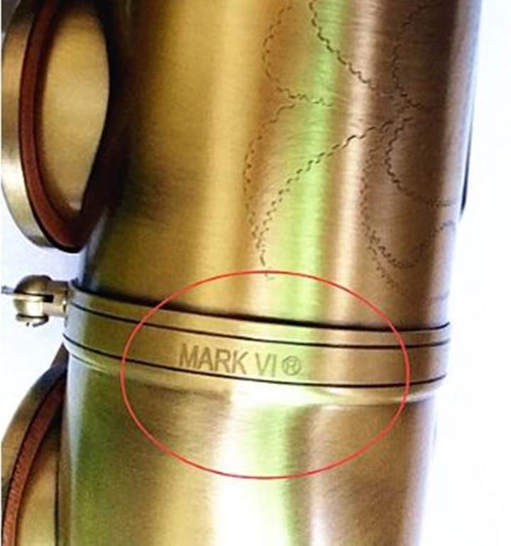 Mark VI Tenor Saxophone Antique Copper BB BB STACT STRUMENTO MUSICALE STRUMENTO MUSICALE Pulsanti di perle con casse di canne gratis