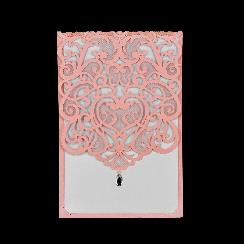 Greeting Cards 10pcs European Style Invitation Card Wedding Party Hollowed Out 5 Color