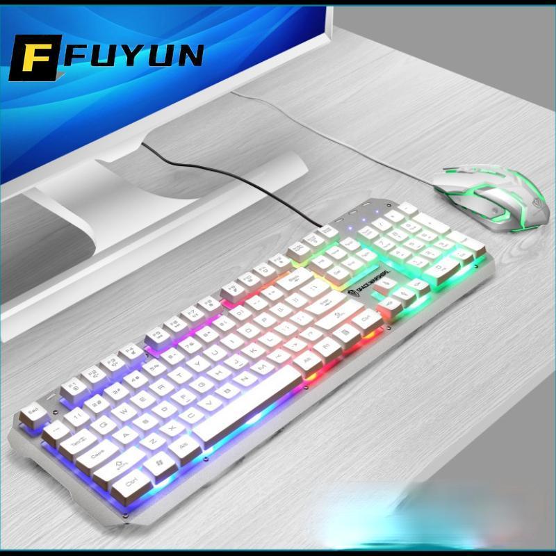 Teclado Mouse Combos Fuyun cabo USB À Prova D 'Água Combo Jogos e Terno para PC Computador Laptop Gamer Kit LED Backlit U165
