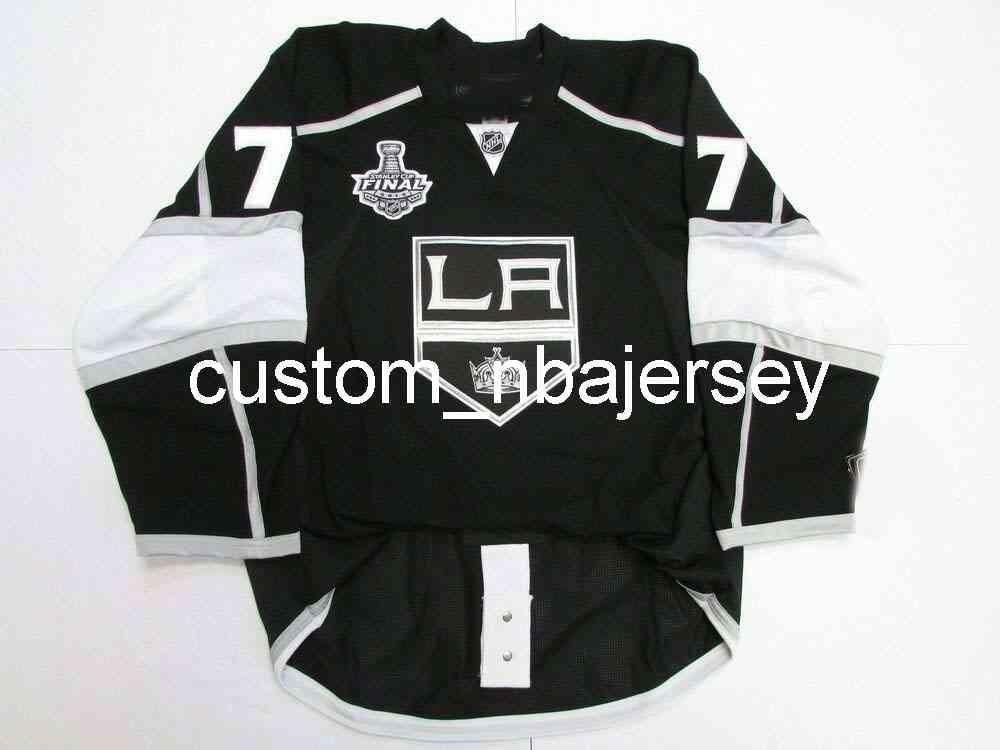 Ricamo Carter Los Angeles Kings Home 2012 Stanley Cup Jersey Uomo personalizzato Hockey Jersey Aggiungi qualsiasi Nome Numero