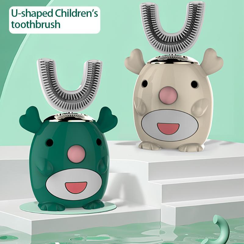 Smart U bambini Sonic spazzolino elettrico spazzolino impermeabile in silicone automatico denti a ultrasuoni denti spazzolino del modello del fumetto dei bambini