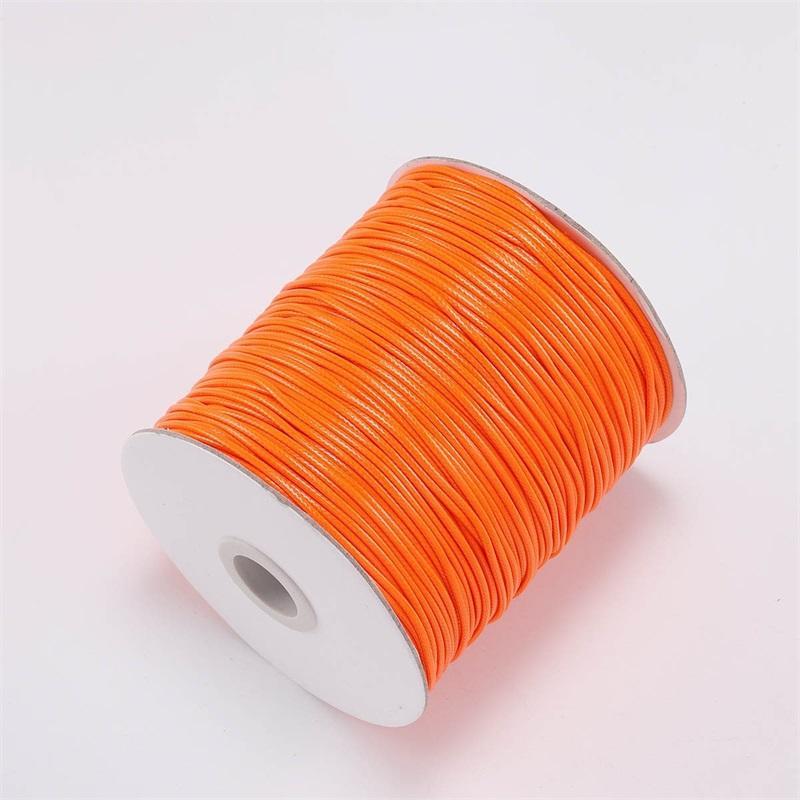 10m / lot 22 Farbe Leder Linie gewachster Kabel Baumwollfaden String Strap Halskette Seil für Schmuckherstellung DIY Armband Lieferungen 803 T2