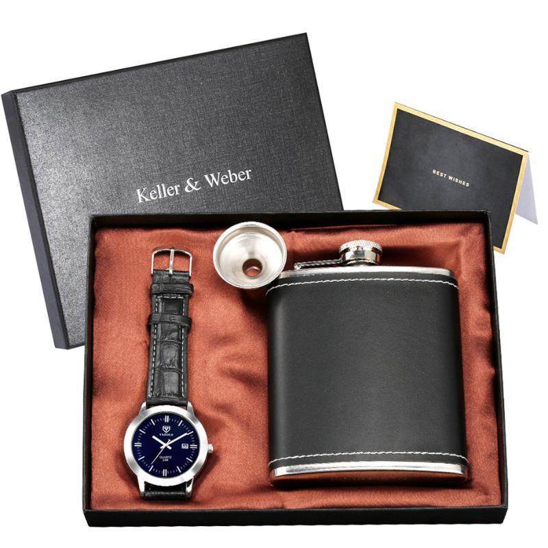 Relojes de pulsera Reloj de pulsera de Cuarzo Viaje de viaje de cadera al aire libre Contenedor con embudo Sistemas de regalo únicos
