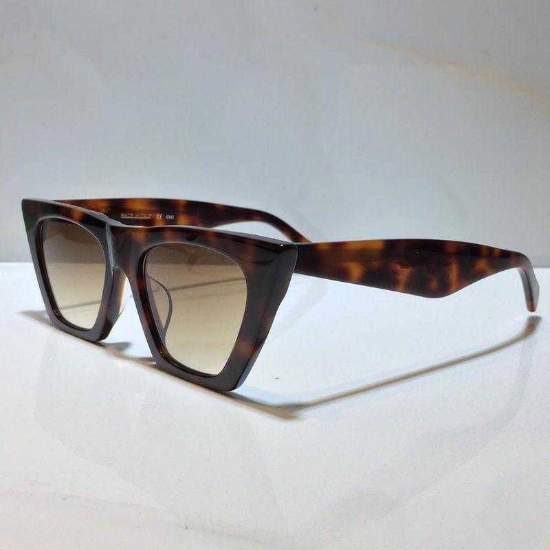 Kadınlar için Güneş Gözlüğü Yaz Kedi Gözler Stil Anti-Ultraviyole Retro Kalkan Lens Plaka Kare Tam Çerçeve Moda Gözlükler Rastgele Kutu 41468