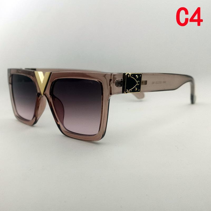 Designer top qualität mode retro frauen luxus sonnenbrille lässig outdoor square box millionaire sonnenbrille uv400 volle rahmen brille neu