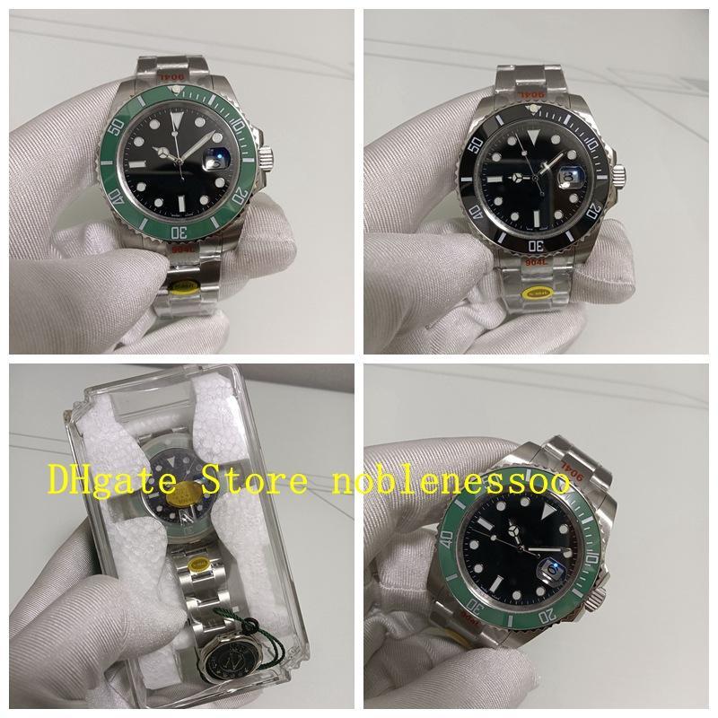 2 Color y caja de regalo Super N Factory 126610ln Watch Hombre 41mm Green Black Dial Ceramic Bezel 126610 NOOBF 904L ETA Cal.2813 Relojes de buceo mecánico automáticos