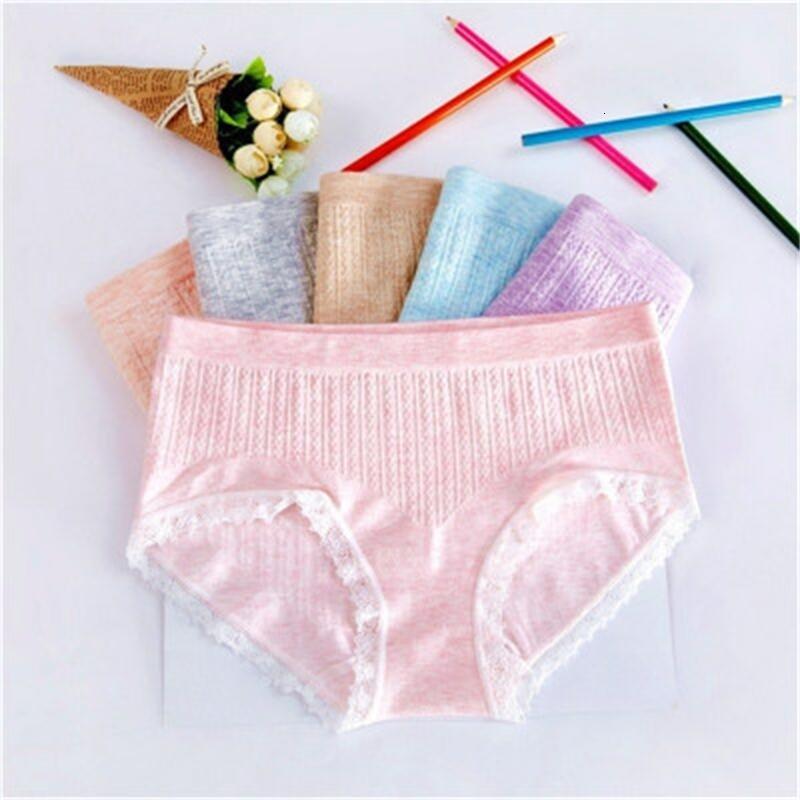 Bragas ropa interior mujeres encaje chicas algodón algodón sin fisuras talastic de mujer cintura mediana sin rastreo