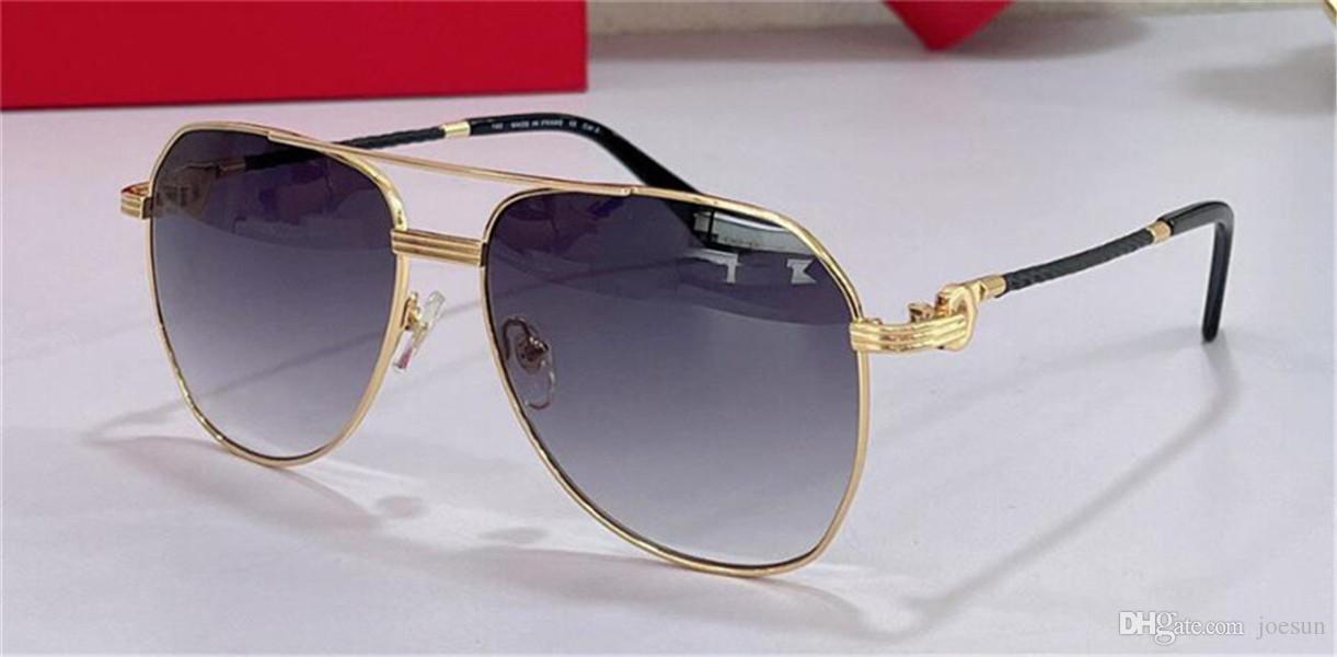Moda Design Sunglasses 0829s Clássico Metal Piloto Quadro Simples e Generoso Estilo Ao Ar Livre UV400 Proteção Óculos Top Quality