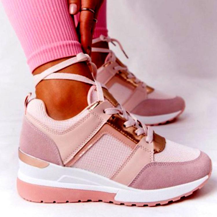 Avrupa ve Amerikan Büyük Boy Spor Rahat Ayakkabılar 21 Yaz Yeni Kalın Alt Kama Rahat Ayakkabılar Kayış Mesh Sneakers Cross-Sınır