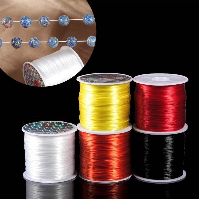 393 pulgadas / rollo fuerte cordón de cordón de cristal elástico 1 mm para pulseras de hilo estirado collar de cuerdas DIY joyería haciendo cables Línea 797 T2