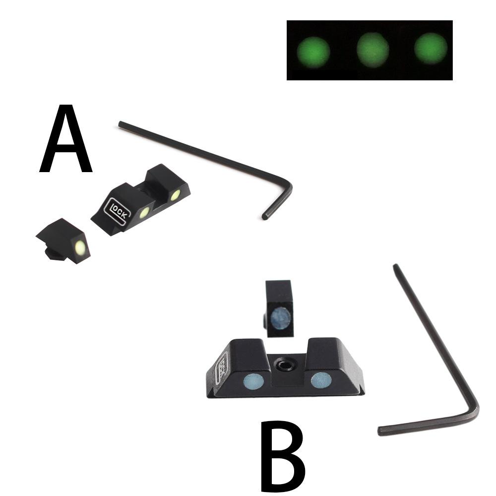 2021 G LOCK Scopes 어두운 밤 광경에서 전술 사냥 권총 광선 G17, G19, G22, G23 G35 G38 G39 용 전면 및 후면 시력 설정