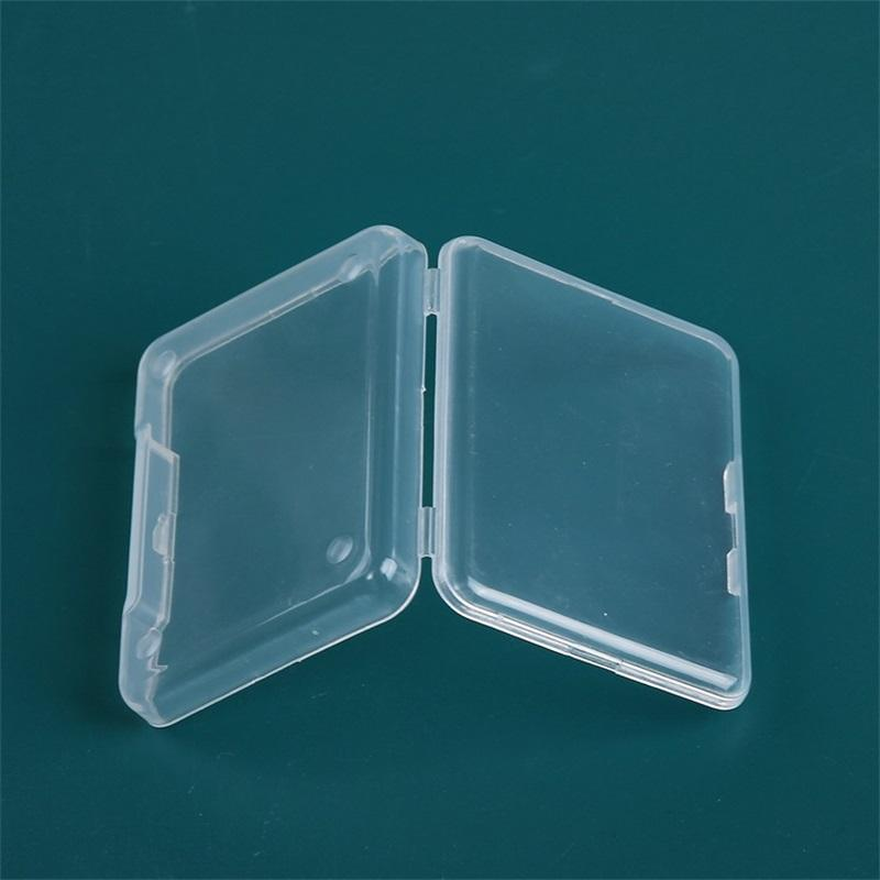 5pcs Coleção Coleiner Caso Jóias Acessórios Acessórios Plásticos Transparentes Pequenos Loja Caixa Com Caixa de Armazenamento da Tampa 2039 V2
