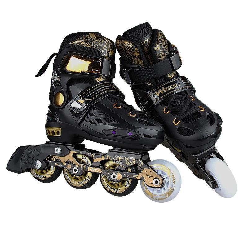 Femmes Hommes PU Microfibre Rouleaux Rouleaux Skates Patinage Chaussures Coutant Quad Snewners Commencer l'Europe Taille Adulte 4 roues en ligne