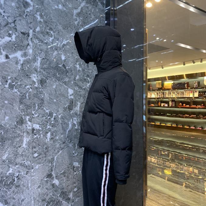 겨울 다운 재킷 방풍 방수 따뜻한 코트 리얼 거 위 고품질 파카가 두건 패션 남자 스타일을 판매