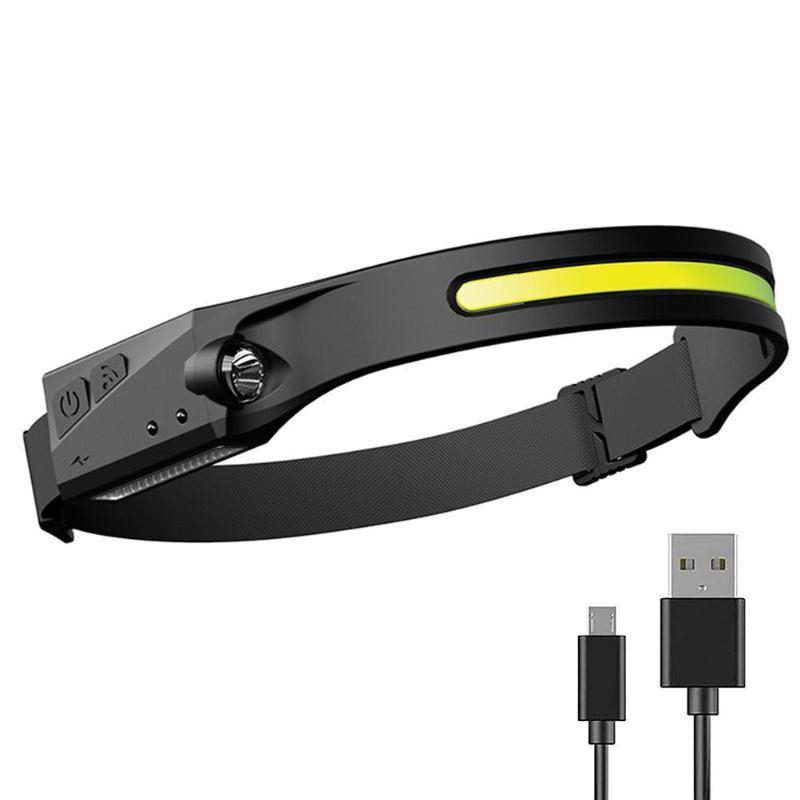 Portable LED Headlamp USB Rechargable Lightweight Head Light Weatherproof USB-C Input For Camping Running Hiking Headlamps