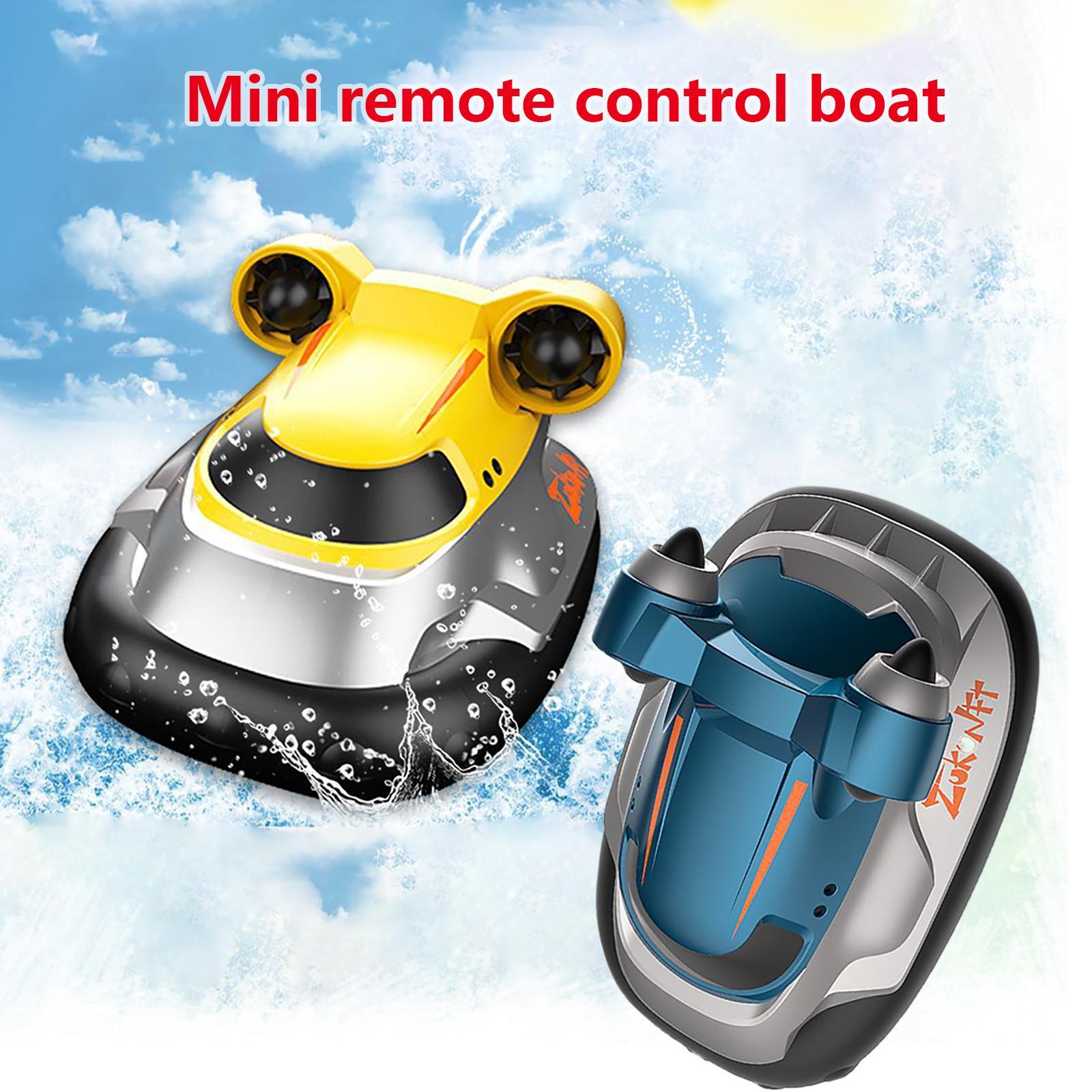 راديو التحكم عن قارب البسيطة 2.4 جرام 4ch سرعة قارب نفخ rc قارب للأطفال الأزرق التحكم الأصفر عن بعد أطفال الهدايا