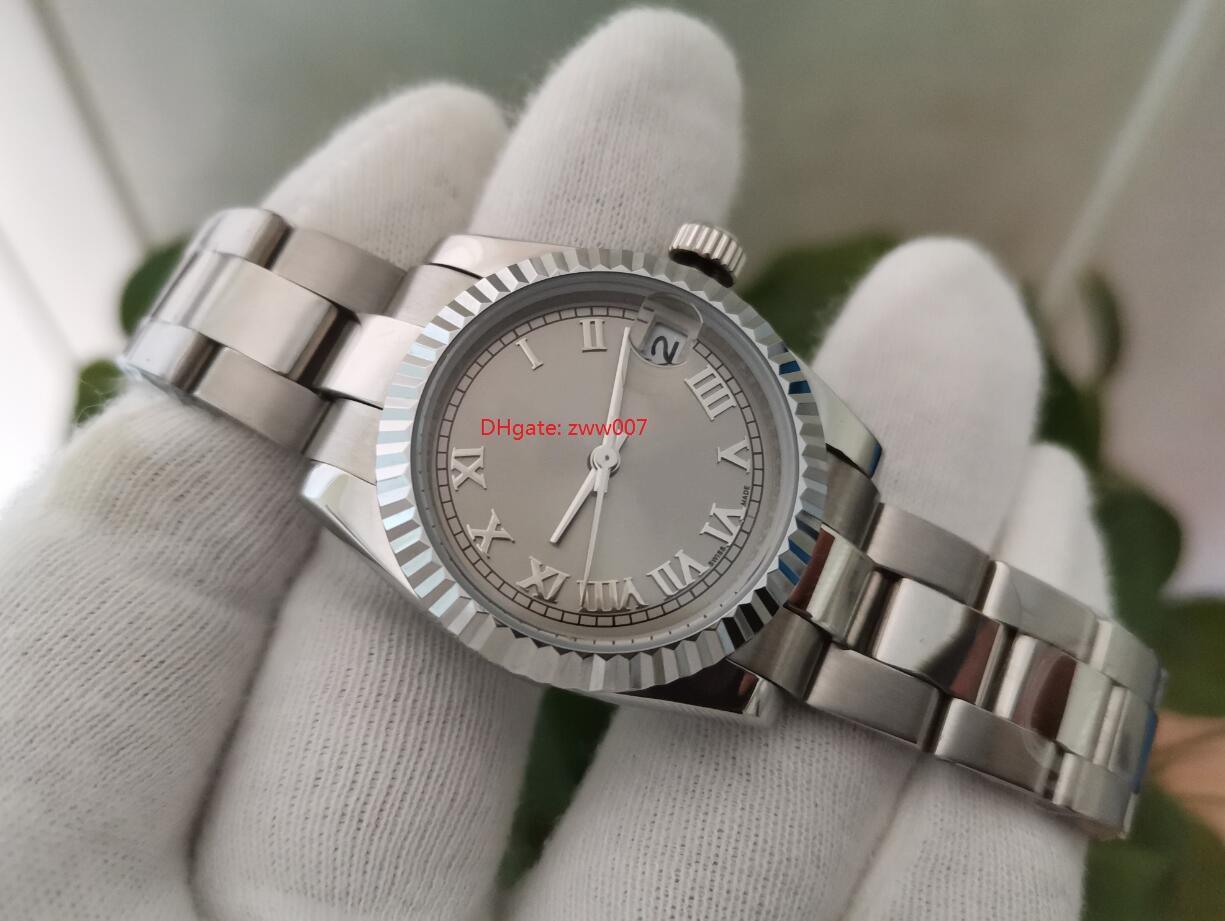 Topselling Yüksek Kaliteli Saatı Safir 31mm Gümüş Arama Asya 2813 Mekanik Otomatik Bayanlar İzle Kadın Saatler