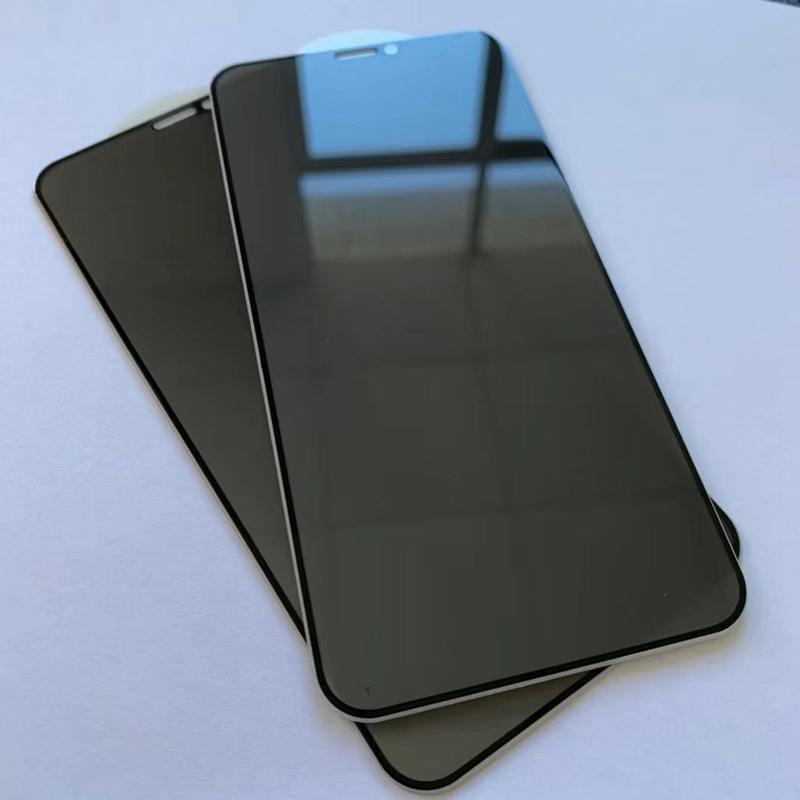 Confidentialité anti-espion Privacy Plein Glass Tempéra Glass Protector Silk Imprimé pour Oppo Realme 6 7 PRO C11 C15 A53S 5G 100PCS / Lot Simple Opp