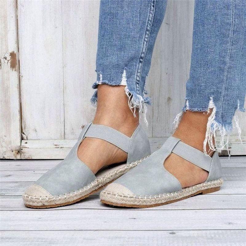 Woamil Chaussures Femme Plates Bout Rond Vintage Mujeres Ladies Moda Retro Sandalias Placas Piso Medio Cabeza Casual Zapatos Casual Sandalias T2BG #