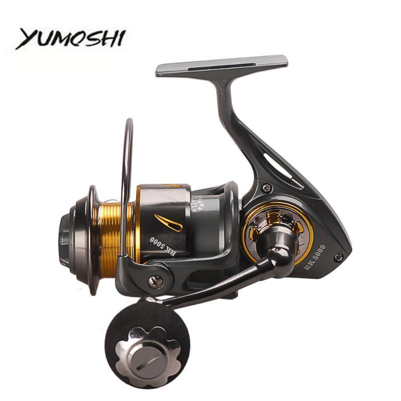 Baitcasting Rollen Yumoshi RK5000-9000 Serie Angelrolle 13 + 1BB Vollmetall Spinning Carretilha Molinete Peche Tackle Werkzeuge