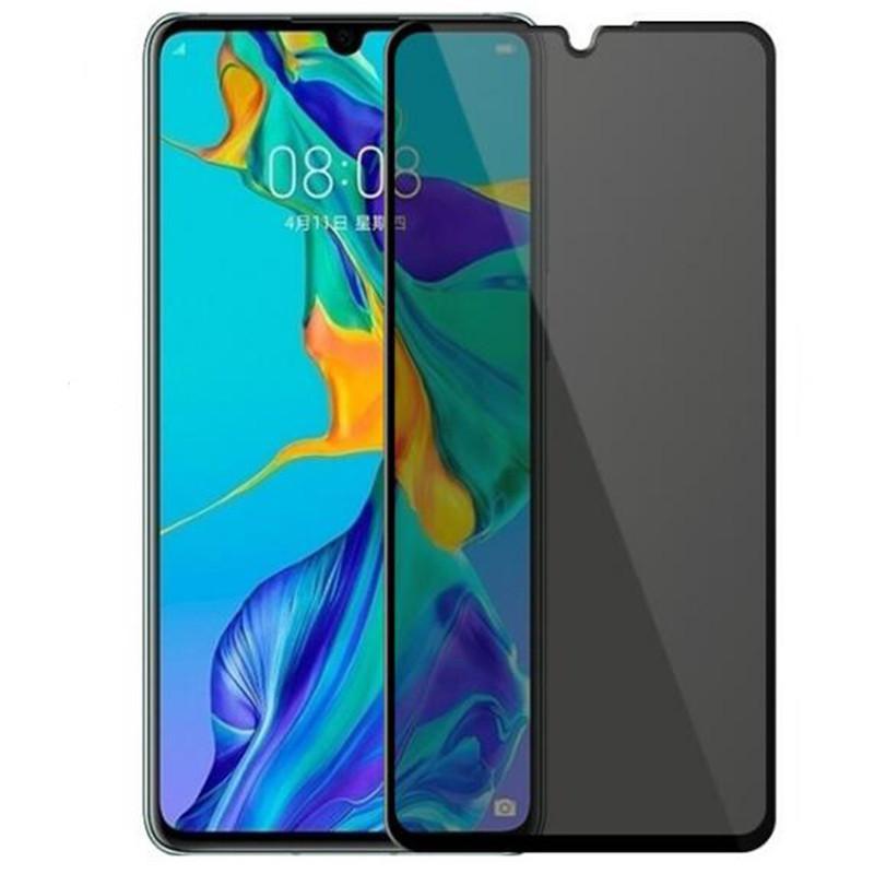 Confidentialité anti-espion Privacy Plein Glass Trempé Verre Protecteur Soie Imprimé pour Huawei P Smart 2021 Y9A Y9A P40 Lite E 100pcs / Lot Simple Opps