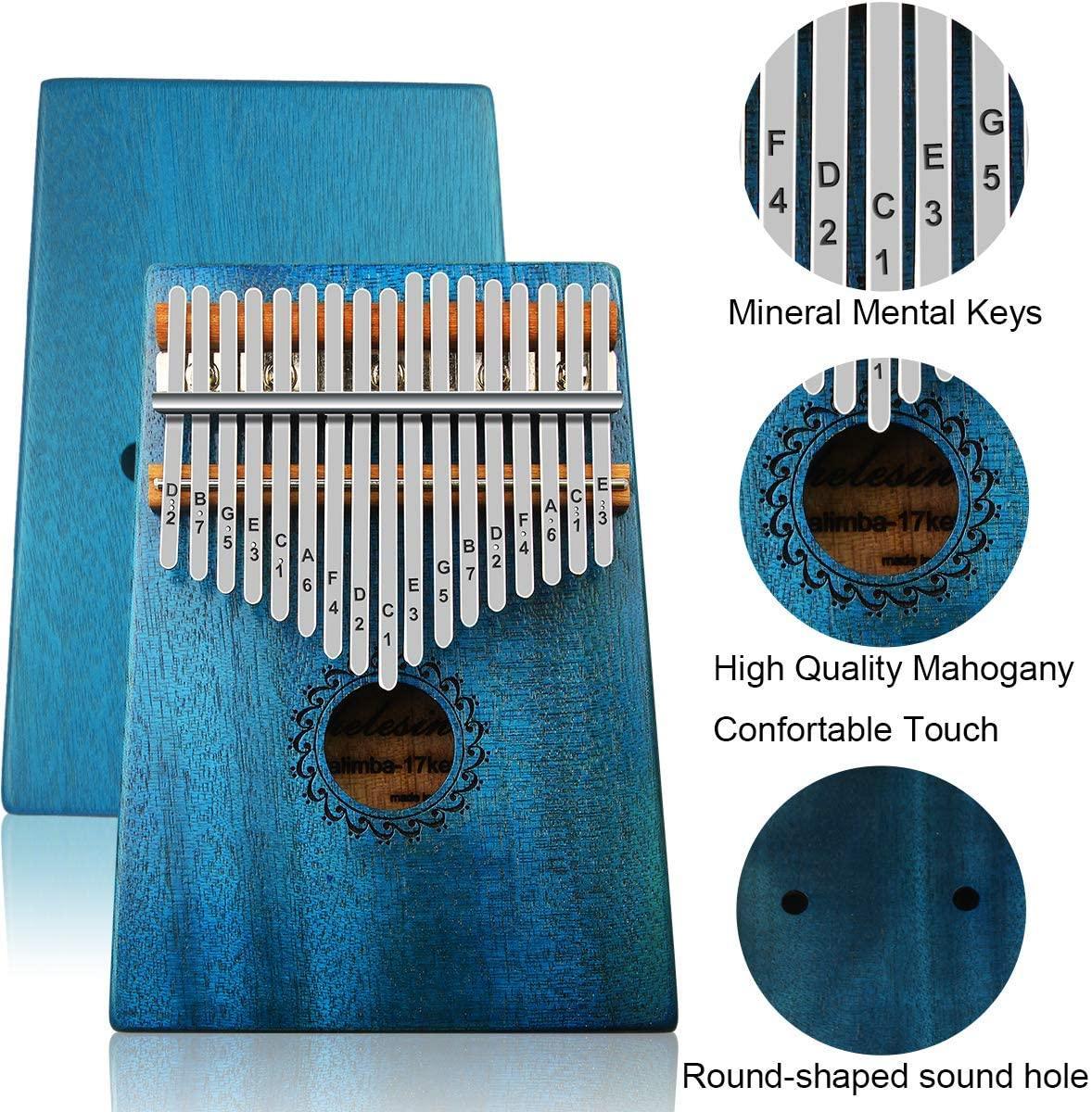 Thumb Piano Waterproof Protective Crystal Discoloration 17 Key Wholesale Beginner Portable Keys Mini Kalimba 3 buyers