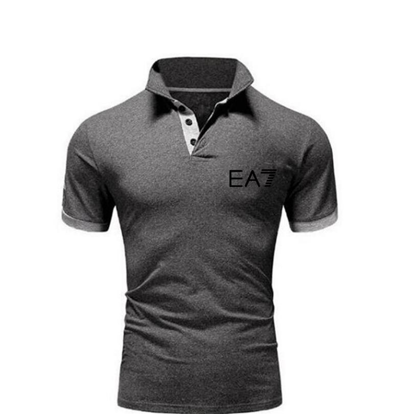 2021 مصمم قمصان بولو الذكور عارضة العلامة التجارية القطن قصير الأكمام عالية الجودة الرجال جولف قميص الصيف
