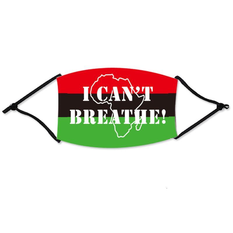 Non posso respirare maschere 8 Stili BLM Face Ploth Black Lavabile Lavabile Lavabile in cotone con 1 pz Filter Pad CCA12455 120PCS