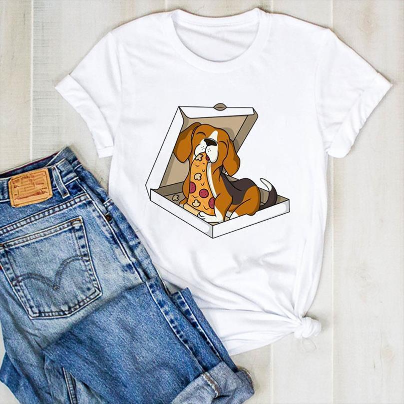 Camiseta feminina estampa de homens camisetas Cachorro, grfica com camiset e mulheres meninas camisa de verão