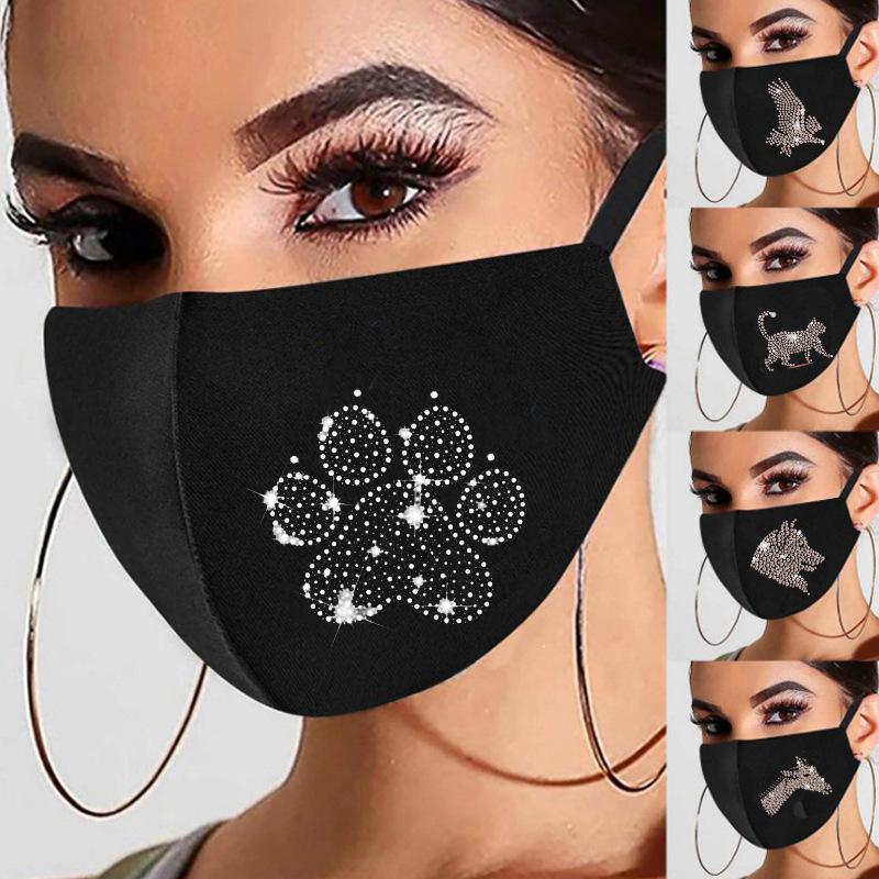POINT D'EAU DIAMANT DIAMANT DOEUVE Dessin animé Ice Silk Masque Space Coton Poussière Les masques peuvent être personnalisés