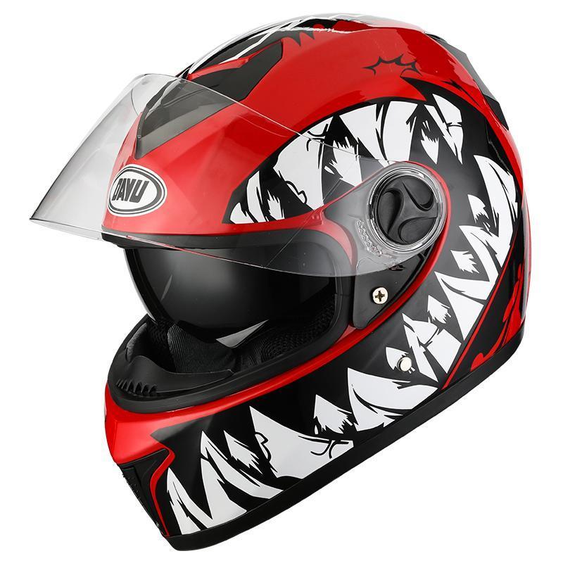Casques de moto 2021 Casque de visage complet avec double objectif motocross motocross vélo double visière pour adultes