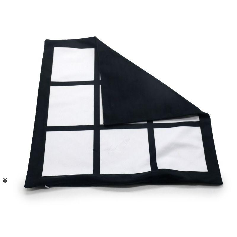 التسامي وسادة فارغة القضية شبكة سوداء المنسوجة بوليستر وسادة غطاء نقل الحرارة وسادة غطاء رمي أريكة وسادات 40 * 40 سنتيمتر NHE6742