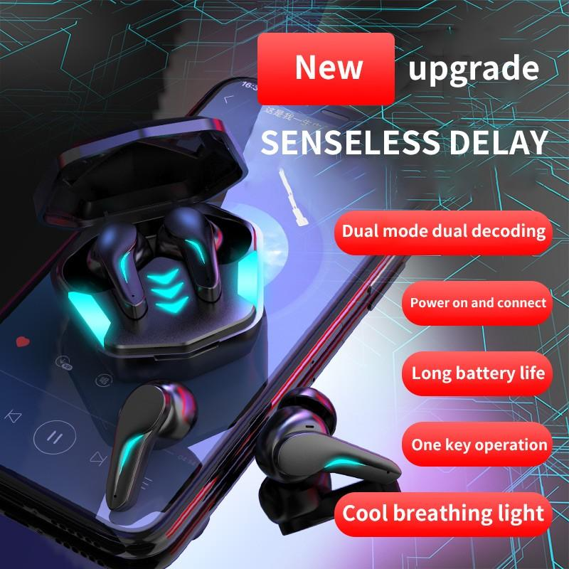 MD188 TWS Wireless Earphones Bluetooth 5.1 Stereo Low-latency Noise Cancelling Gaming Headsets Switchable Game/Audio-visual Mode