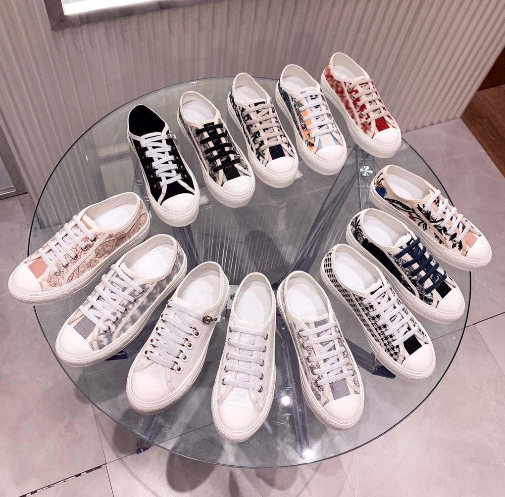 Classics Quality Femmes Chaussures Espadrilles Sneakers Impression Promotion Marche Sneaker Broderie Toile Bas Top Plate-forme Chaussures de chaussure par Home011 08
