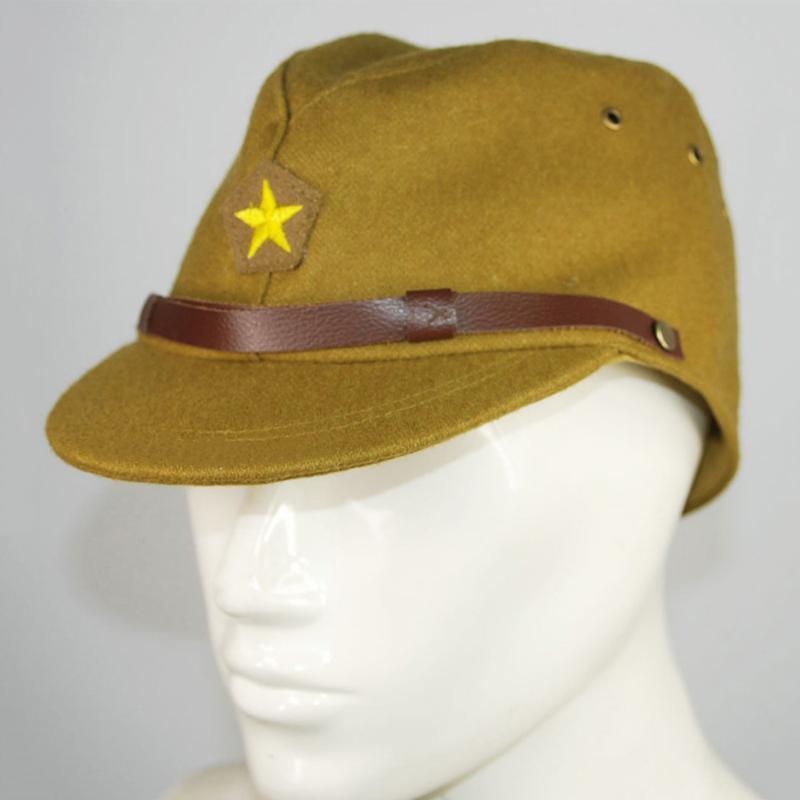 IJA Memur Alan Yün Kap Şapka Geniş Ağız Şapkalar