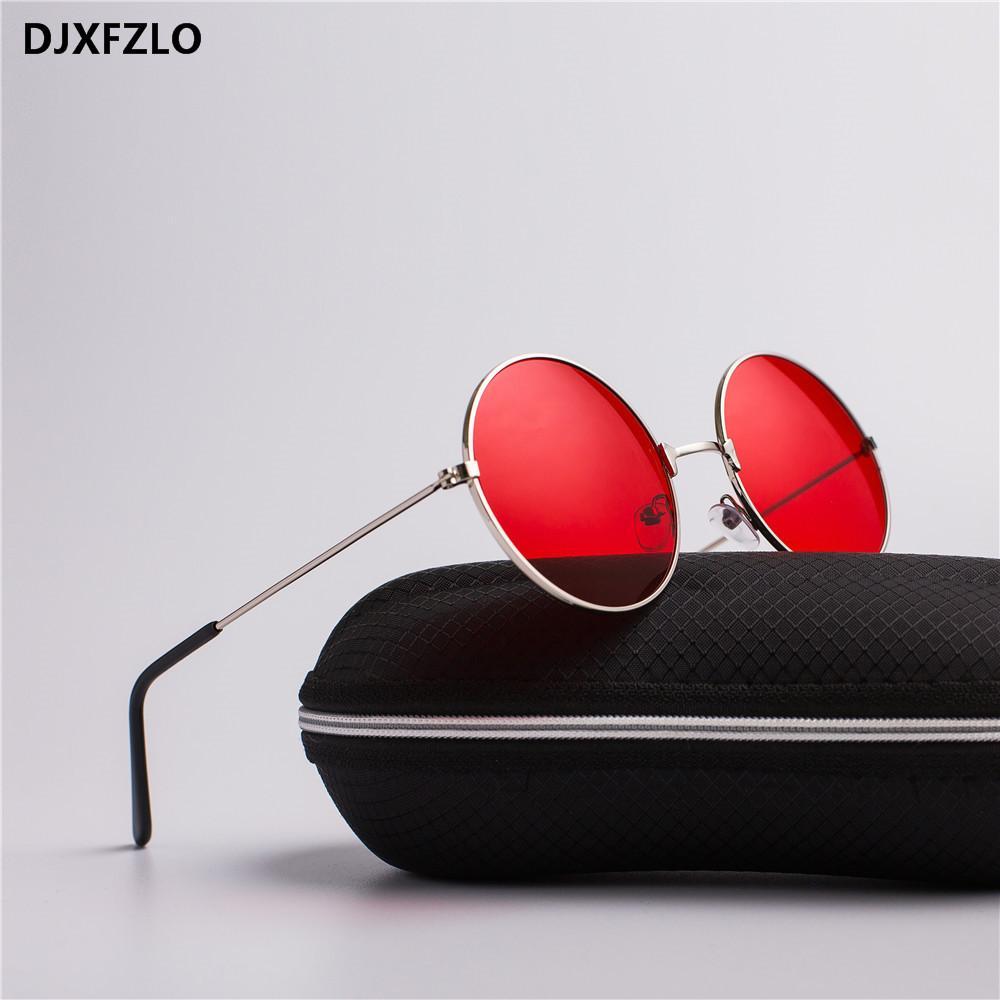 DJXFZLO 2020 MODELOS DE EXPLOSIÓN DE EXPLOSIÓN METAL REDONDO LENTES MARINOS DE MAÑOS ROJOS Gafas de sol Red Unisex Fashion Prince Mirror UV400