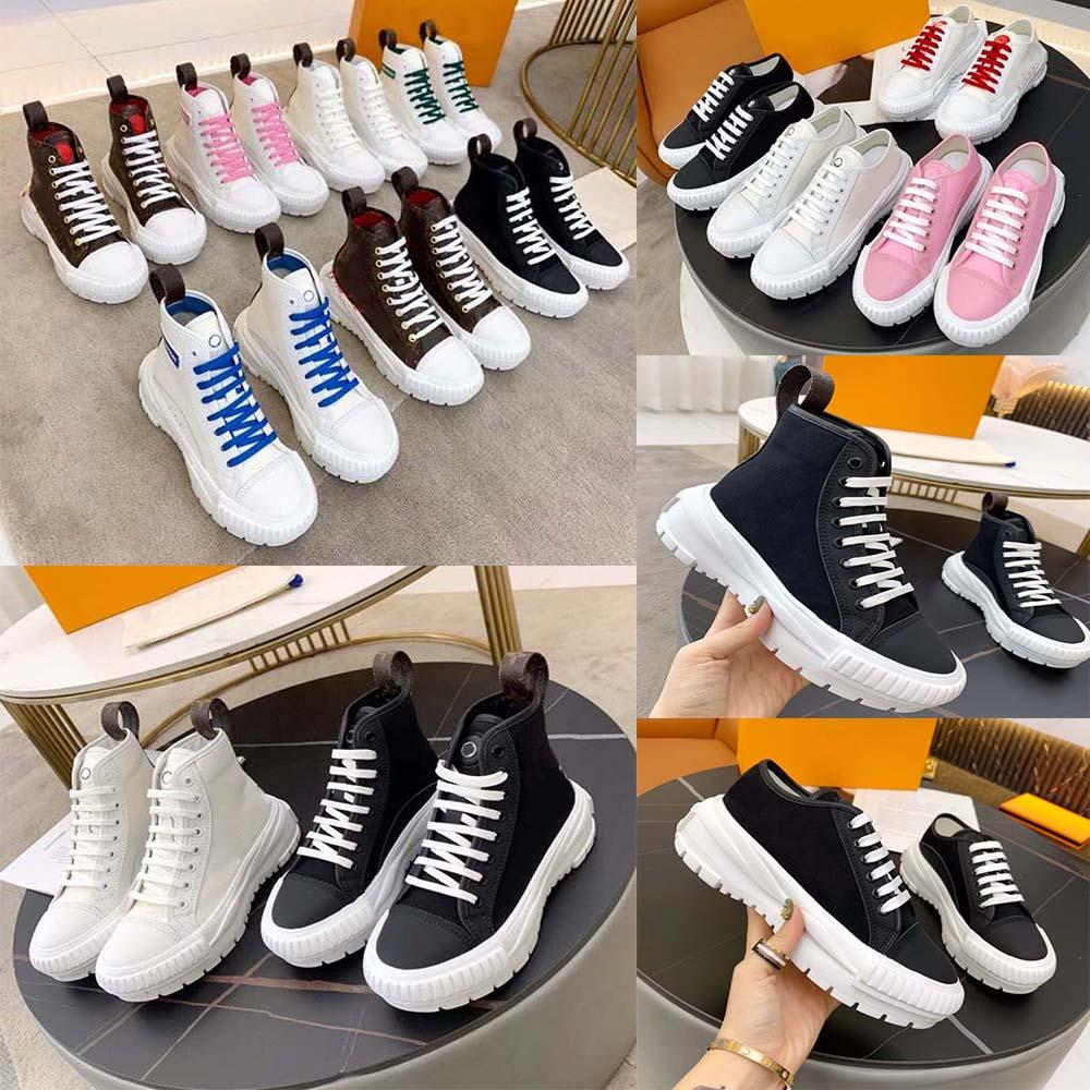 Top Quality Mulheres Designer Sapatos Sneakers Sneaker Sneaker Bordado Classic Trainers Lover Trainer com Box Home011 030