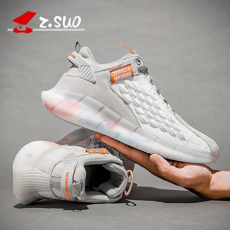 Z.SUO الرجال النساء للجنسين زوجين عارضة الأزياء أحذية رياضية تنفس الرياضة الرياضية الحذاء