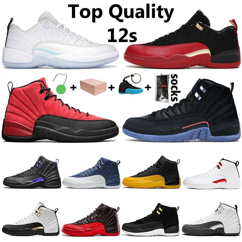 Nike Air Jordan Retro con scatola Low Easter Utility Mens Jumpman 12 12s scarpe da basket Royalty Twist Reverse University oro scuro Concord formatori Sneakers