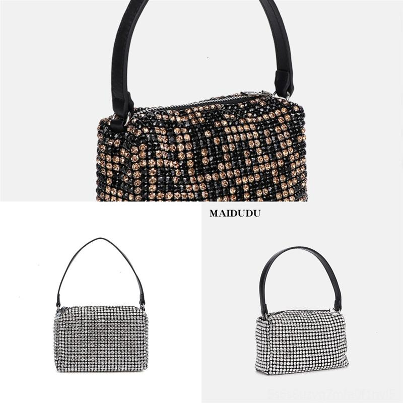 FTZW1 Damen Schulter Heißer Hip-Hop Anhänger Damen Handtasche Logo Leinwand Tasche Weibliche Brust Bagbracelet Handtasche Presbyopie Brieftasche