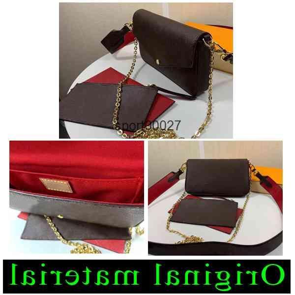 s Shoulder Bags Women Mini Crossbody Bag Floral Letter Genuine Leather High Quality Wallet Handbags 61276
