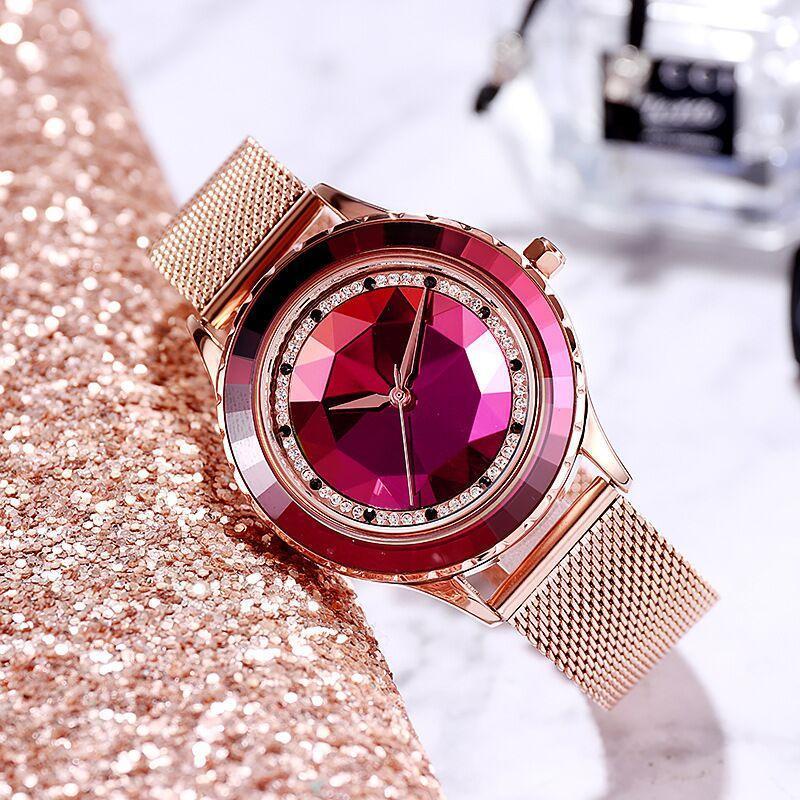 Wristwatches Creative Rose Gold Women Watches Luxury Bracelet Stainless Steel Diamond Ladies Watch Dress Female Clock Zegarek Damski Reloj