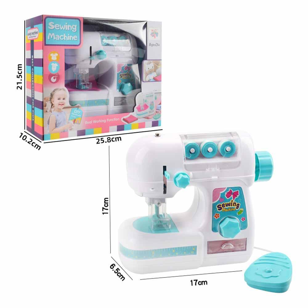 Niños Mini Máquina de coser Play Casa Juguete Pequeño Ropa eléctrica Niños Costura Máquina de coser Juguetes Inicio Juego de niños Regalo para niños