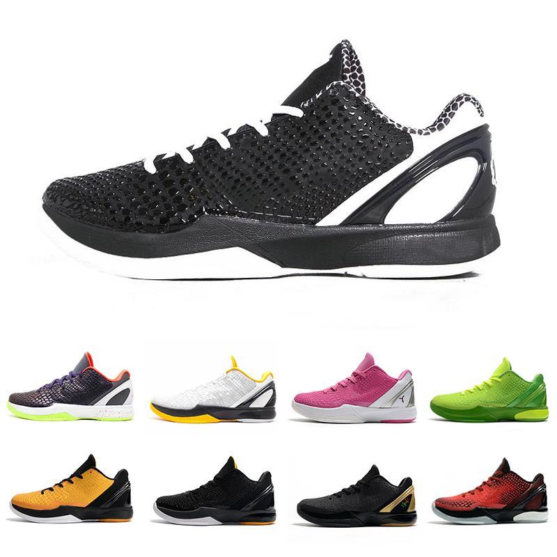 Nike Kobe Bryant Grinch Black Gold Nova chegada Moda BHM Proto 6 Mens tênis de basquete 6s Think Pink Grinch homens formadores esportes ao ar livre das sapatilhas 40-46