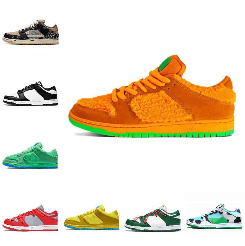 Satış 2021 Dunk Erkek Kadın Koşu Ayakkabıları Tıknaz Dunky Syracuse Siyah Beyaz UNC Mahkemesi Mor Kaplama Erkek Eğitmenler Açık Spor Sneakers F33