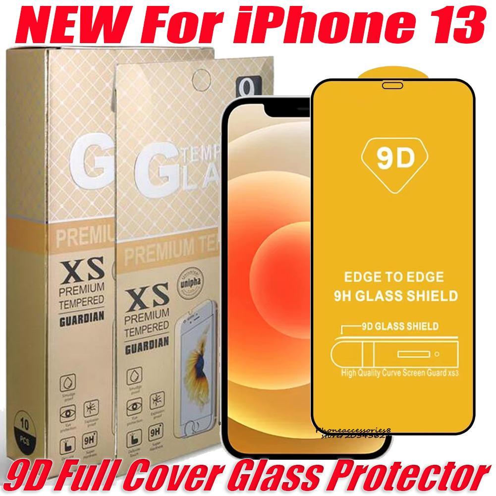 High QualTiy 9D الزجاج المقسى زجاج الهاتف حامي شاشة ايفون 13 12 11 XR XS 8 7 6 سامسونج A03S A30S A20S A02S A22 4G 5G مع حزمة البيع بالتجزئة